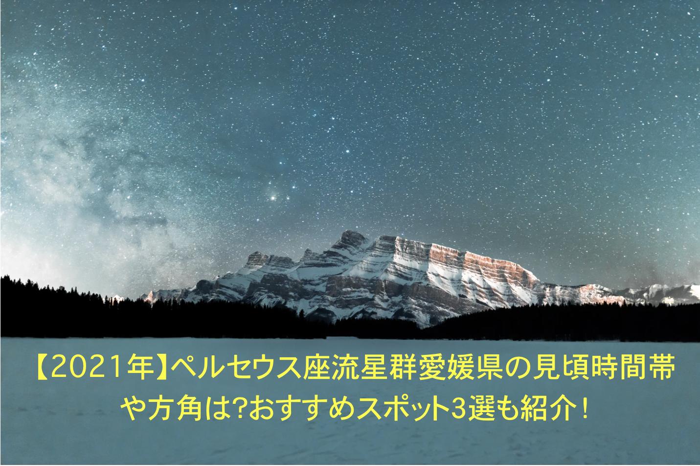 ペルセウス座流星群 愛媛 見頃 時間帯 方角 おすすめスポット