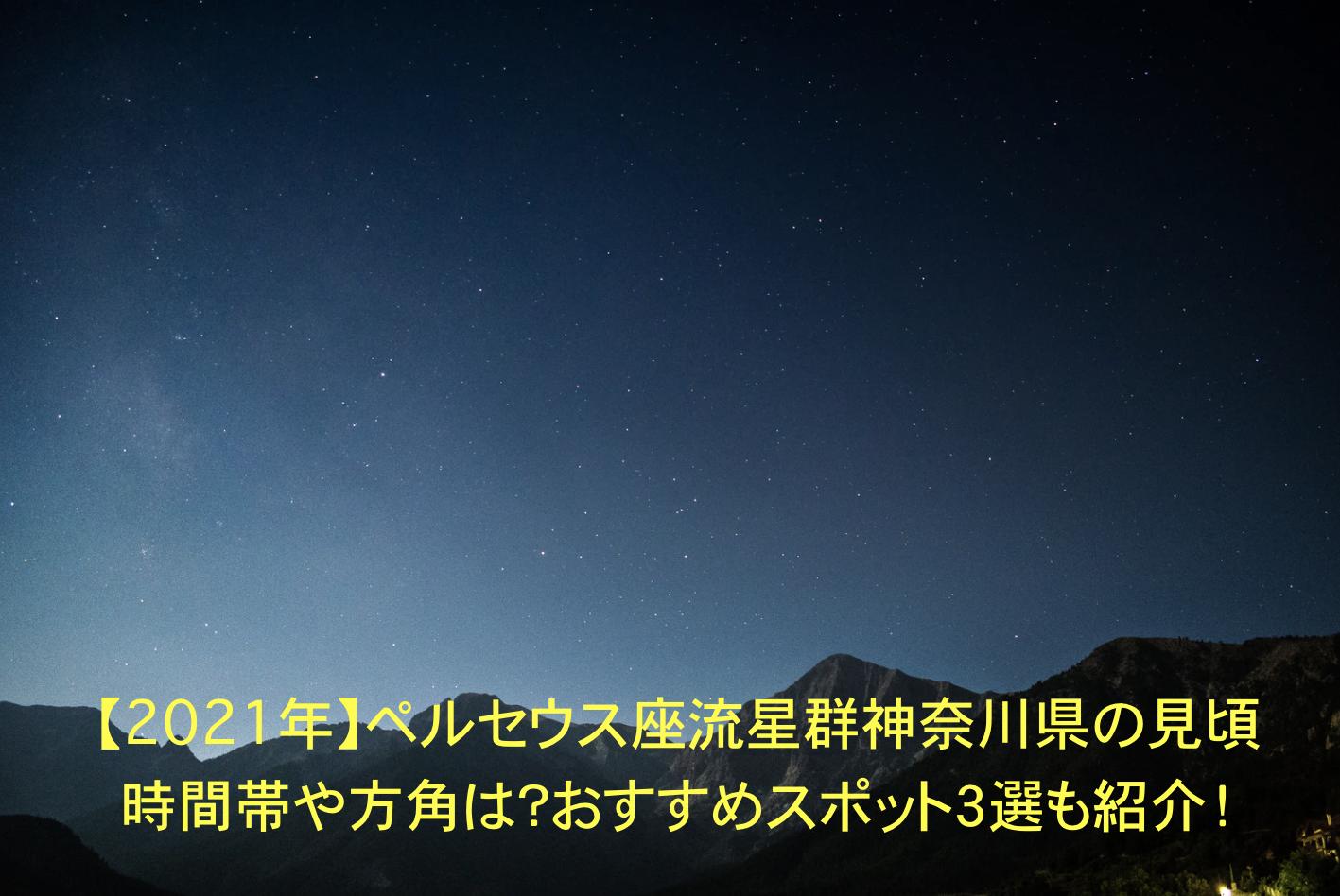 ペルセウス座流星群 神奈川 見頃時間帯 方角 おすすめスポット
